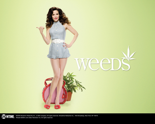 Weeds wallpaper possibly with bare legs, a cocktail dress, and a chemise titled Weeds Season 4 Promo