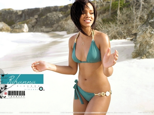 Rihanna wallpaper containing a bikini called rihanna