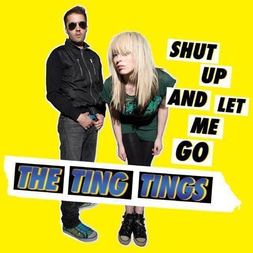 the ting tings Hintergrund possibly with a sign entitled Album Art