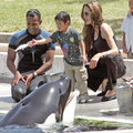 Angelina Jolie with kids & orca