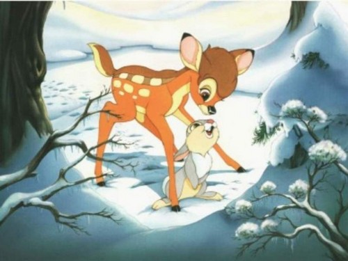 Bambi wallpaper entitled BAMBI ON ICE