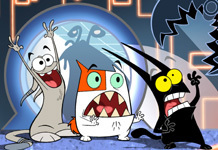Nickelodeon karatasi la kupamba ukuta possibly containing anime entitled Catscratch!