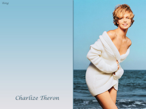 Charlize Theron wallpaper probably containing a chemise, a cocktail dress, and skin titled Charlize