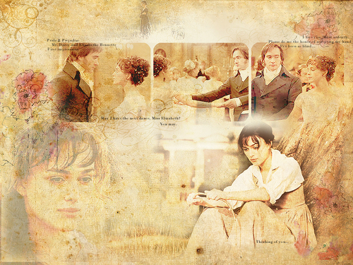 Darcy & Lizzy - pride-and-prejudice Wallpaper