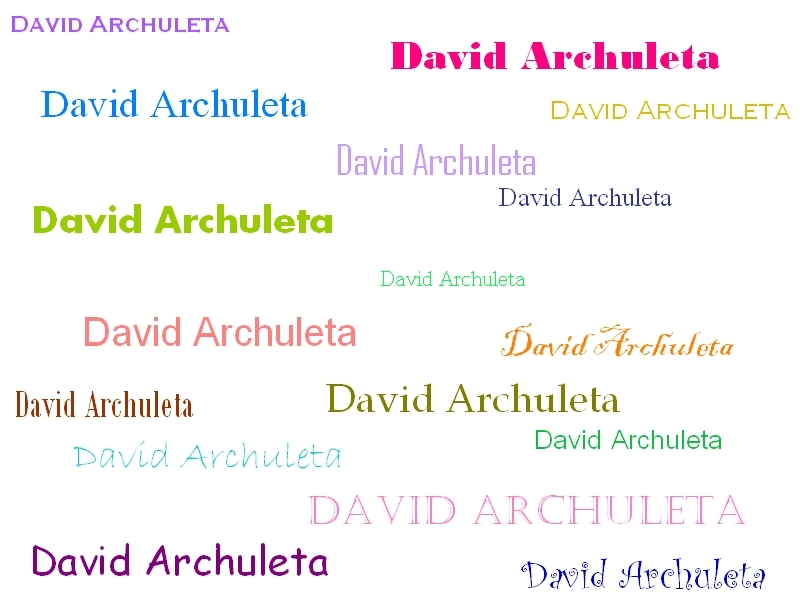 David Archuleta, David Archuleta, etc.