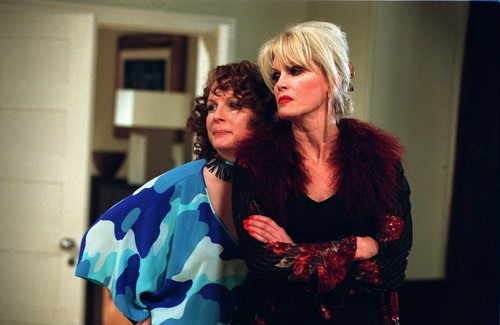 Absolutely Fabulous wallpaper possibly containing a stole titled Eddy & Patsy