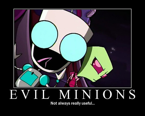 Invader Zim wallpaper with anime entitled Evil Minions