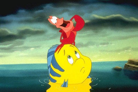 Flounder and Sebastian - Little Mermaid: Ariel's Beginning Photo ...