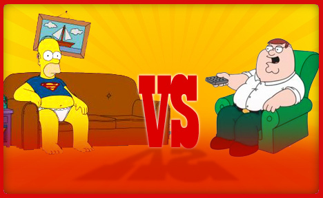 The Simpsons Vs Family Guy پیپر وال containing عملی حکمت entitled Homer Vs Peter