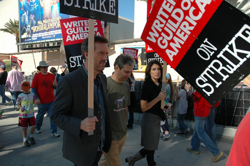 Hugh&Lisa on strike