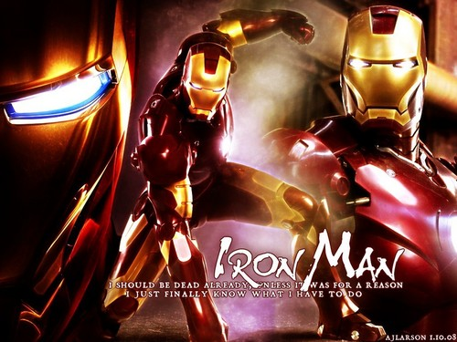 Iron Man wallpaper possibly with anime titled Iron Man