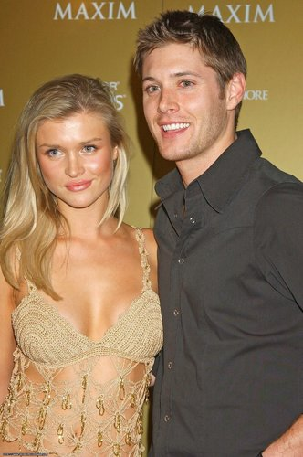 jensen ackles wallpaper probably containing attractiveness and a portrait titled Jensen & his girlfriend