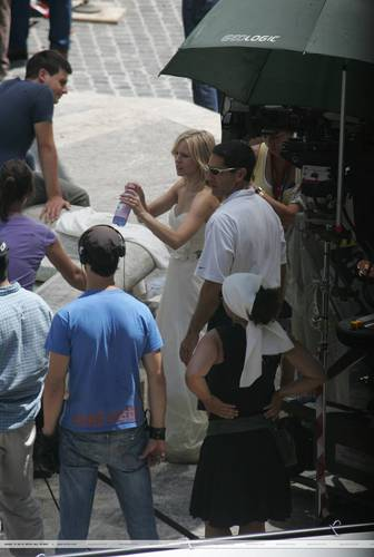 K. campana On The Set of 'When In Rome' (without spoilers)