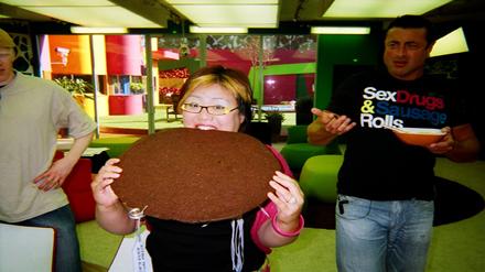 Kathreya's huge cookie