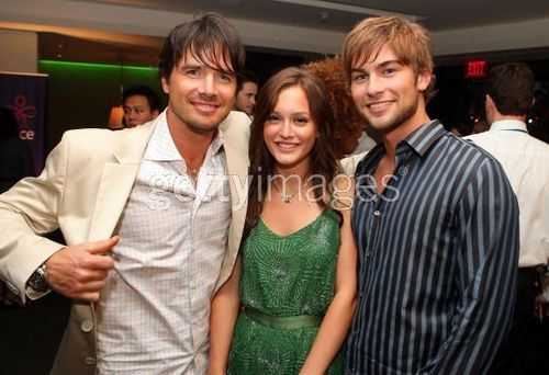 Matthew Settle, actress Leighton Meester, and actor Chace Crawford