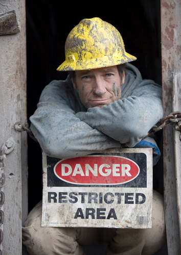 Dirty Jobs wallpaper probably containing a street called Mike Rowe