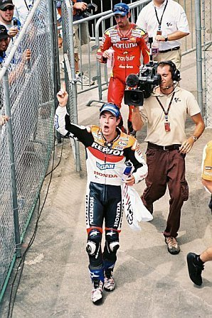 Nicky after winning at Laguna Seca in 2006