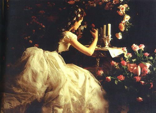 The Phantom Of The Opera wallpaper possibly containing a bridesmaid, a bouquet, and a dinner dress entitled POTO