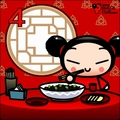 Pucca eating