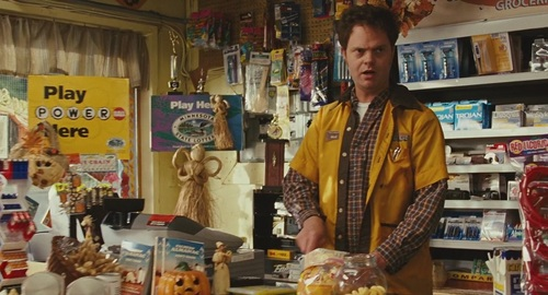Rainn Wilson wallpaper possibly containing a tobacco shop and a newsstand called Rainn in 'Juno'
