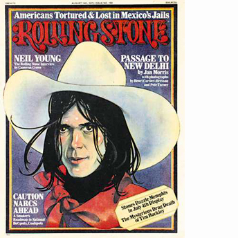 Neil Young wallpaper containing anime entitled Rolling Stone Cover 1975