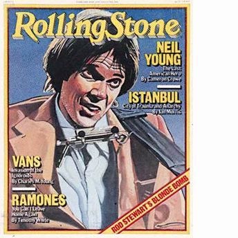 Neil Young দেওয়ালপত্র with জীবন্ত titled Rolling Stone Cover 1979