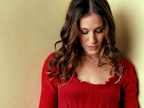 Sarah Jessica Parker wallpaper probably with a cocktail dress, a chemise, and a nightwear titled SJP