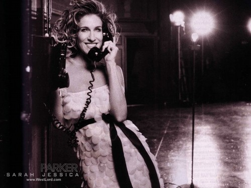 Sarah Jessica Parker wallpaper probably with a telephone booth entitled SJP