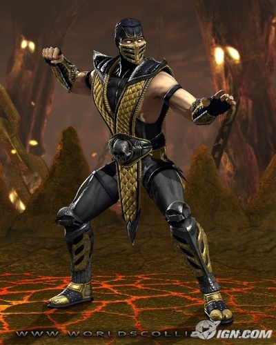 Mortal Kombat kertas dinding possibly with a breastplate, a hip boot, and an armor plate called kala jengking