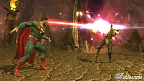 Mortal Kombat wallpaper called Superman laser