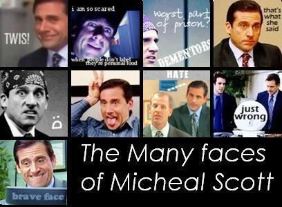 The faces of Micheal Scott