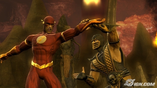 sub zero vs scorpion mortal kombat. The flash vs Scorpion