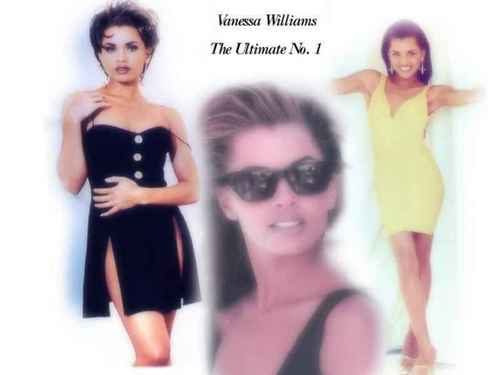 Vanessa Williams achtergrond with sunglasses and a portrait entitled Vanessa