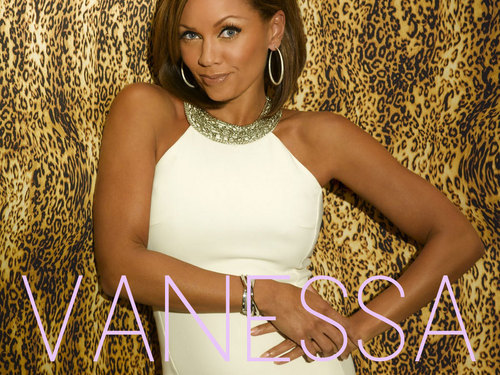 Vanessa Williams achtergrond probably with a bustier and a cocktail dress titled Vanessa