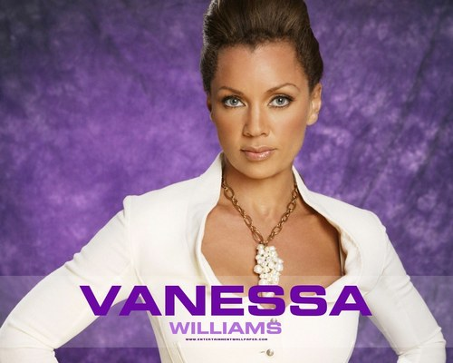 Vanessa Williams achtergrond with a portrait titled Vanessa