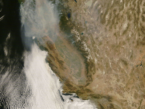 Wildfires from space (26 June 2008)