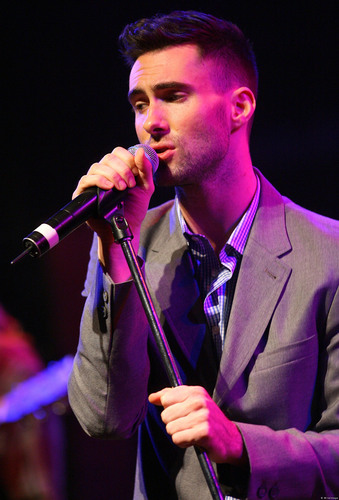 Adam Levine 바탕화면 possibly containing a concert, a guitarist, and a business suit called adam levine