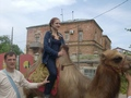 anita in russia on a camel *SCARY*
