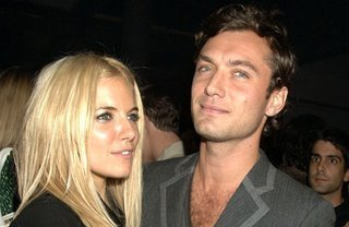Celebrity Couples wallpaper with a portrait titled sienna miller & jude law