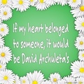 words for David...