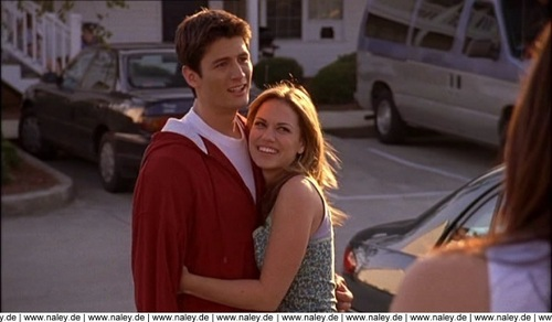 Naley wallpaper with a street titled 2x08 - Truth Bitter Truth