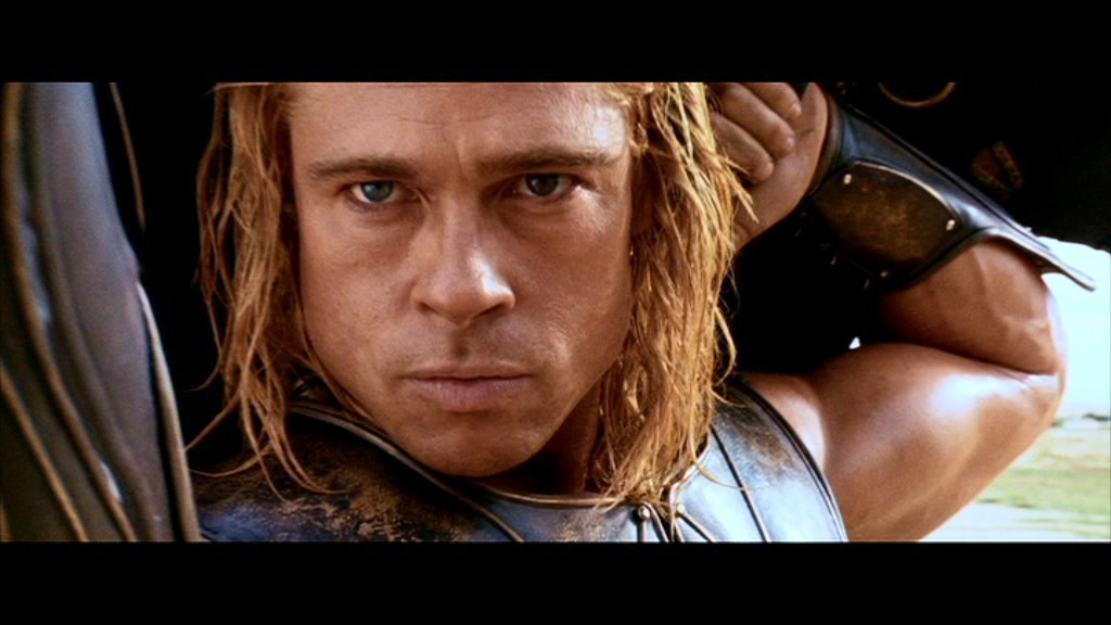 brad pitt troy. photos of rad pitt in troy.