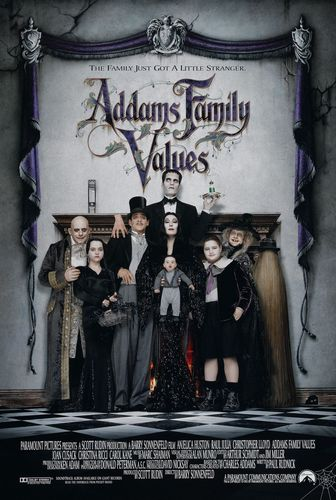 Addams Family wallpaper probably containing a sign and anime entitled Addam's Family Values