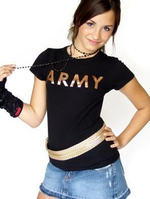 Demi Lovato karatasi la kupamba ukuta with a portrait entitled Army demi