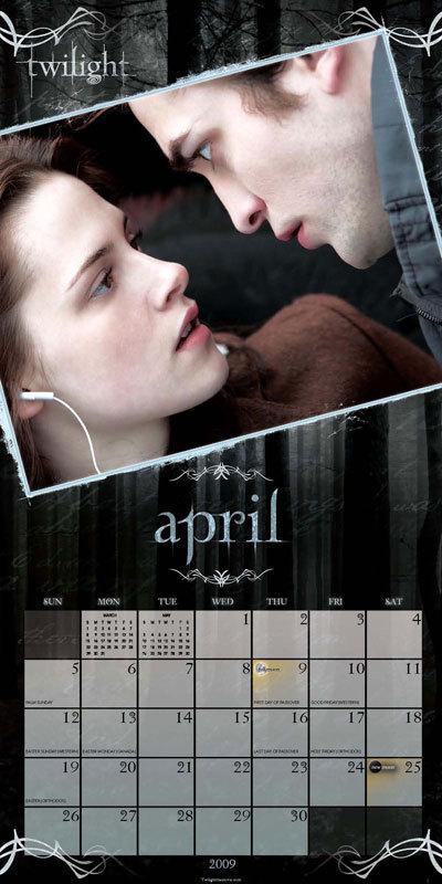 Twilight Twilight Calendar