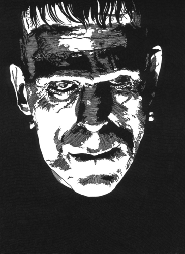 Boris Karloff as the Frankenstein Monster