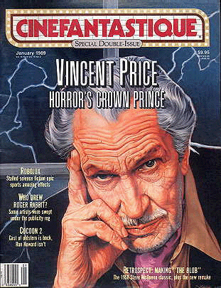 Vincent Price wallpaper containing anime titled Cinefantastique Vincent Price cover
