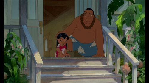 Lilo & Stitch wallpaper possibly with an outhouse and a front porch called Lilo & Stitch Screencap