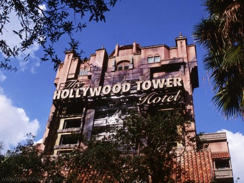 Walt Disney World wallpaper containing a brownstone titled MGM Tower Of terror