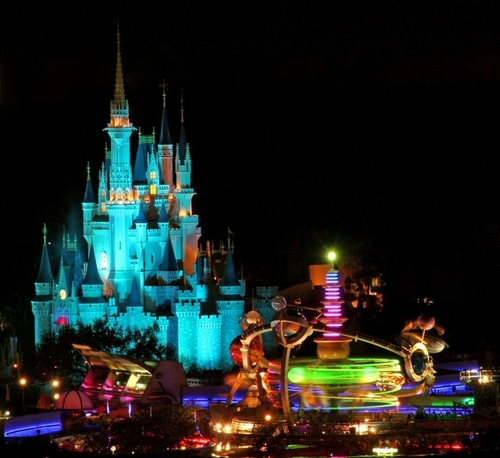 Magic Kingdom at night - walt-disney-world Photo